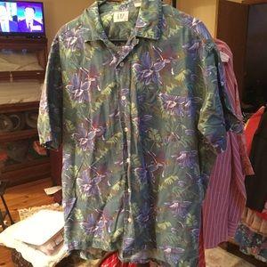 32047e5f GAP Shirts | Vintage Mens Hawaiian Shirt M Linen Blend | Poshmark